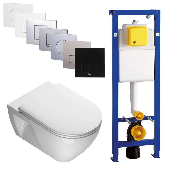 Ben Puro wandcloset Xtra Glaze Free Flush 54,5x35cm Wit / BPF set