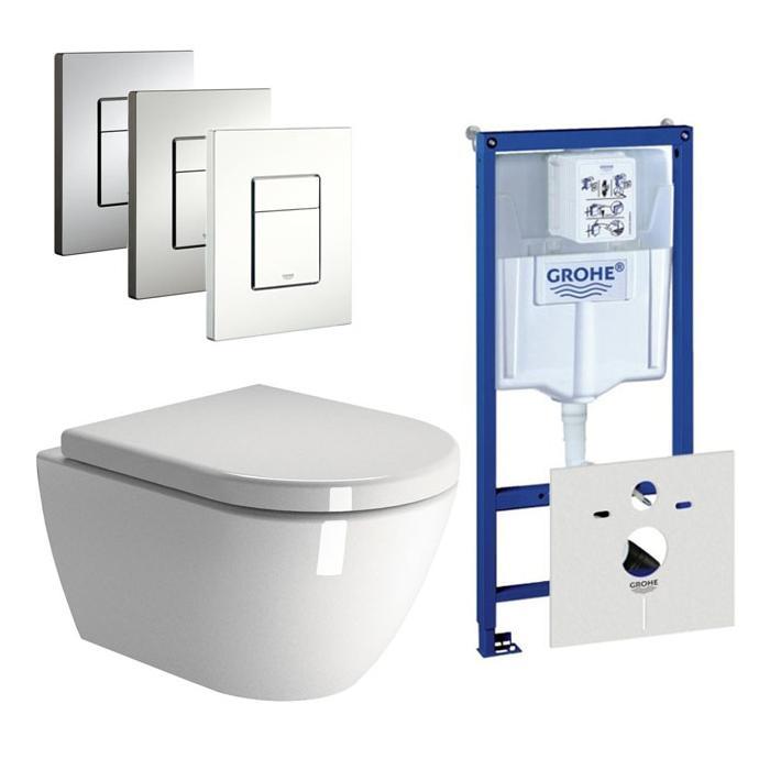 Ben Segno Compact Xtra Glaze / Grohe Rapid SL complete toiletset