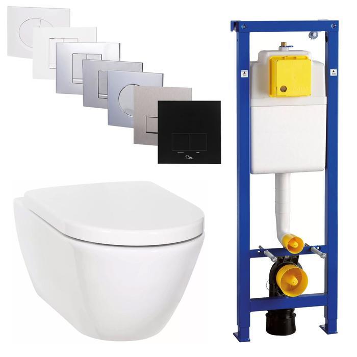 Ben Segno Compact Wandcloset Free Flush Xtra Glaze Wit / BPF set
