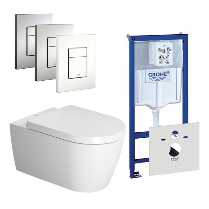 Duravit ME by Starck Rimless / Grohe Rapid SL set