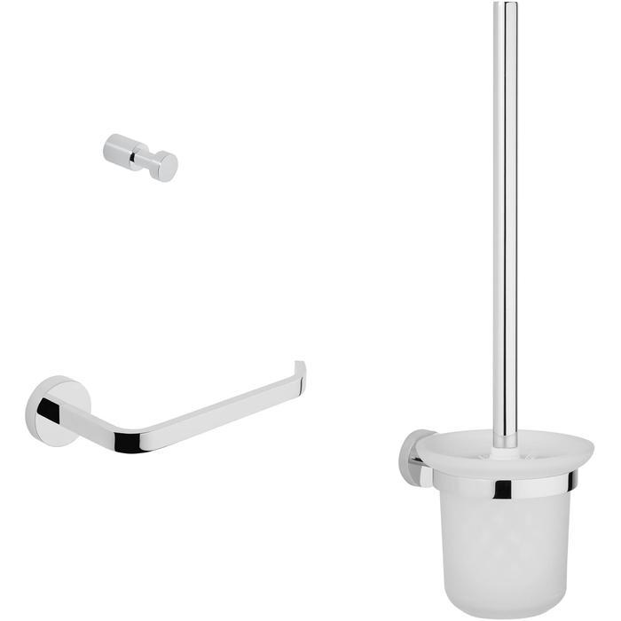 Saqu Tilo toilet accessoireset 3-in-1 Chroom