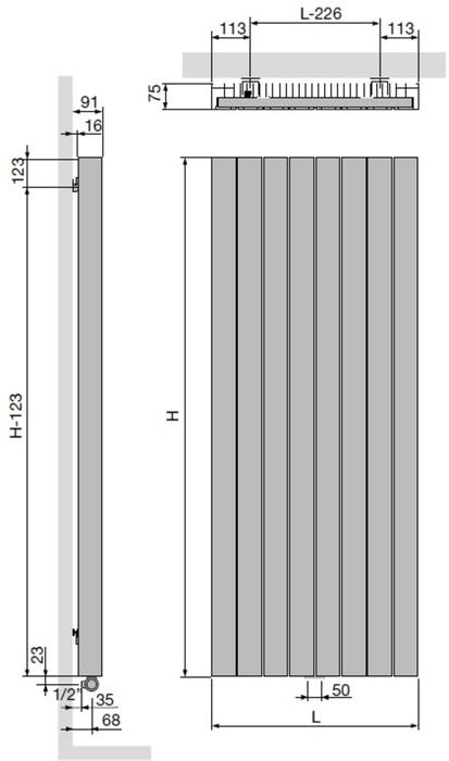 Vasco Zaros Verticaal.Vasco Zaros Verticaal V75 Designradiator 37 5x200 Cm As 0066 Anthracite January