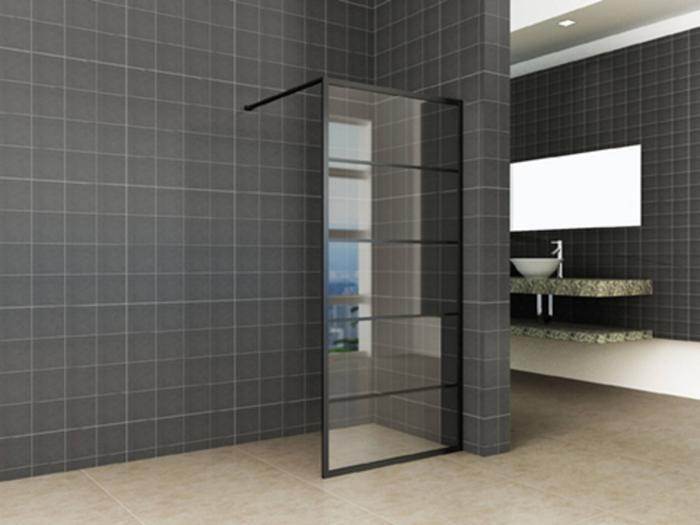 Glazen Douchewand 120x200.Saqu Industrial Black Douchewand Met Nano Glas 120x200 Cm Mat Zwart