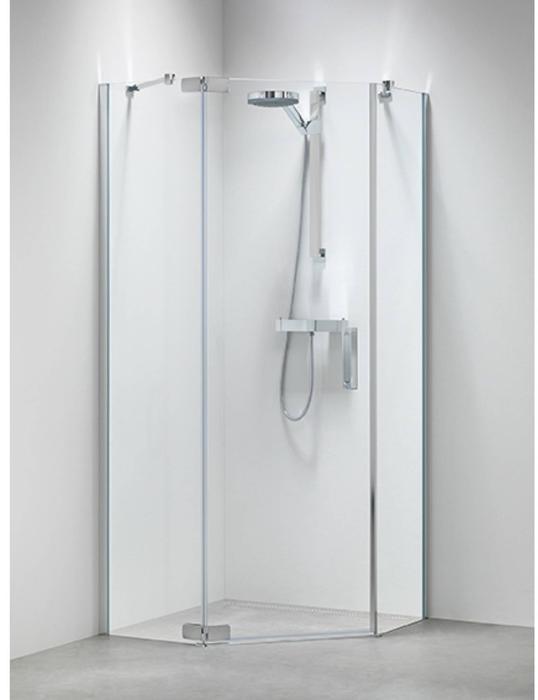 Douchecabine 5 Hoek 100x100.Get Wet By Sealskin Custom Douchecabine Vijfhoek Met Draaideur 100x195cm Zilver Hoogglans Helder Glas
